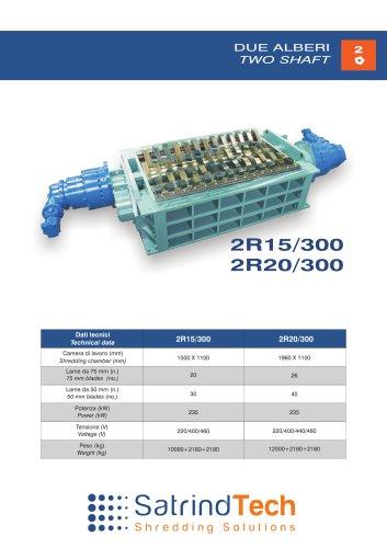 TWO SHAFT-SHREDDER-2R 300HP SERIES-SATRINDTECH SRL