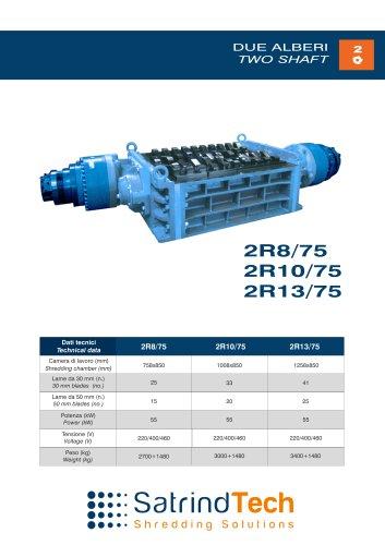 TWO SHAFT-SHREDDER-2R 75HP SERIES-SATRINDTECH SRL