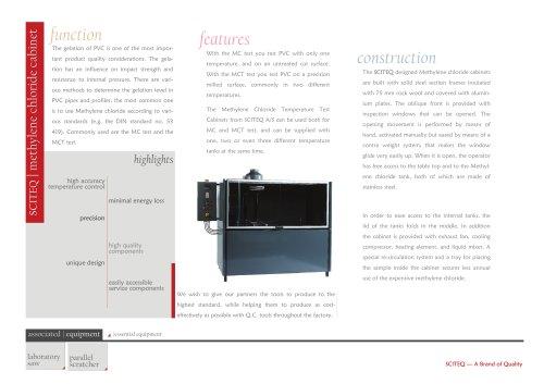 Methylene chloride temperature test cabinet