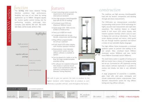 Universal (material) testing machine - SXW series