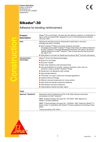 Sikadur®-30 Adhesive for bonding reinforcement