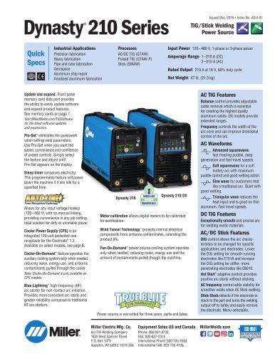Dynasty® 210 120-480 V