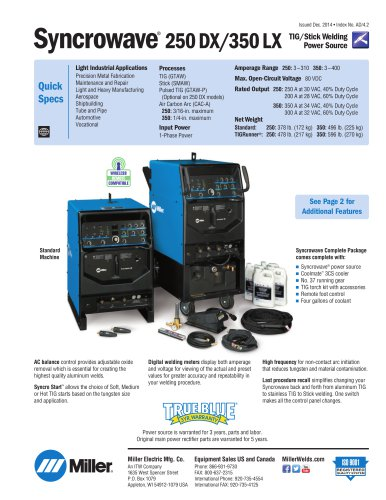 Syncrowave® 350 LX 230/460/575 V