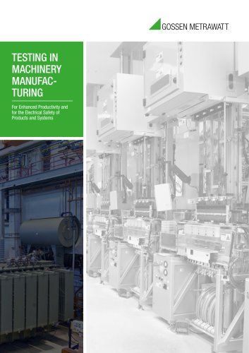 Testing in Machinery Manufacturing