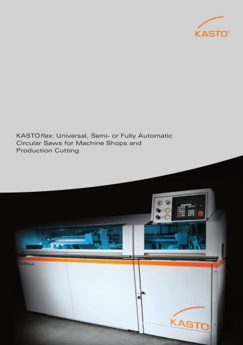 KASTOflex Series: Circular Saws for Machine Shops and Production Cutting