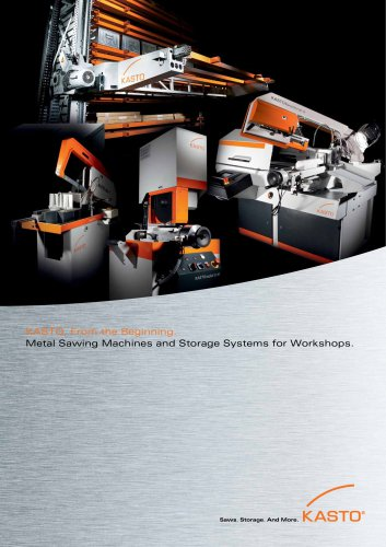 KASTOfunctional: Bandsawing Machines for Manual, Semi- and Fully Automatic Straight and Mitre Cuts.
