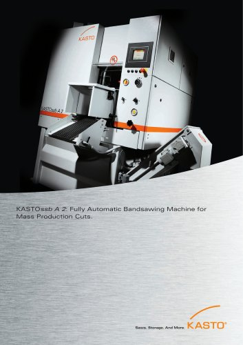 KASTOssb A 2: Automatic Bandsawing Machine for Mass Production Cuts