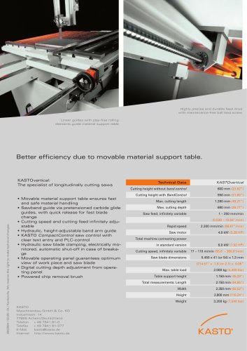 KASTOvertical:Economic cutting of small blocks, plates and test samples