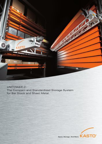 UNITOWER  C: The Compact and Standardized Storage for Sheet Metal Formats