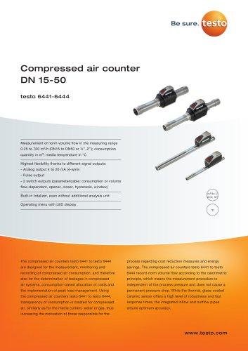 Compressed air counter  DN 15-50 testo 6441-6444