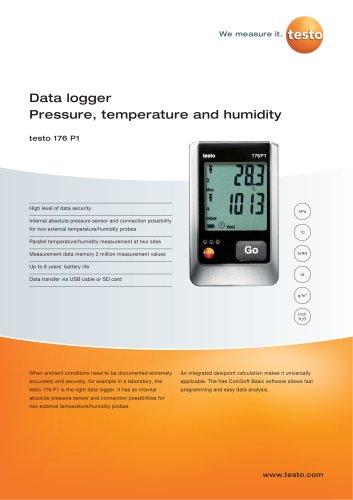 Data logger Pressure, temperature and humidity - testo 176 P1
