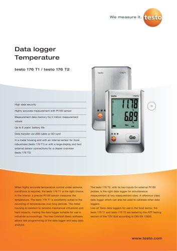 Data logger Temperature - testo 176 T1 / testo 176 T2