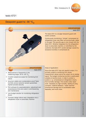 Dewpoint guard to -30 °Ctd - testo 6721
