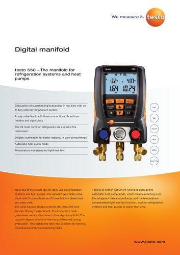 Digital manifold - testo 550