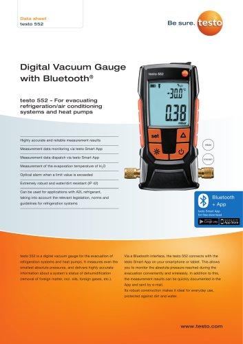 Digital Vacuum Gauge  with Bluetooth®