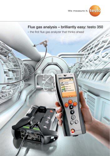 Flue gas analysis – brilliantly easy: testo 350
