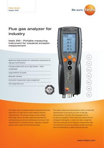 Flue gas analyzer for  industry testo 340