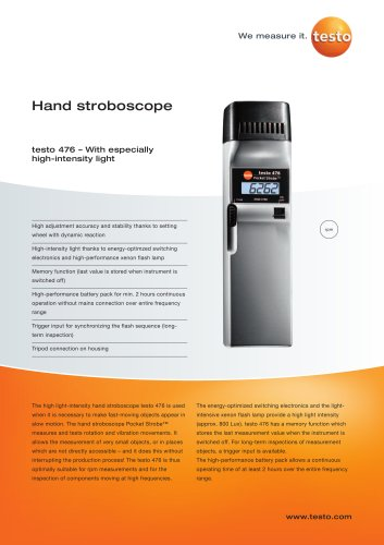 Hand stroboscope - testo 476