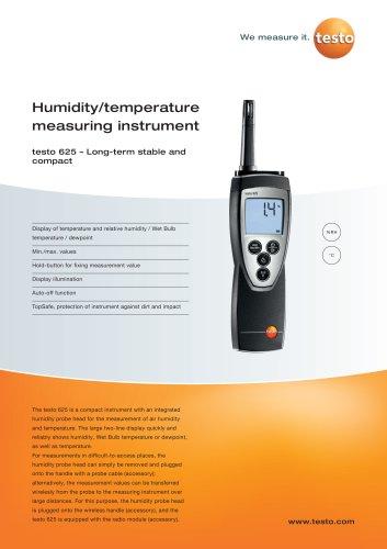 Humidity/temperature measuring instrument - testo 625