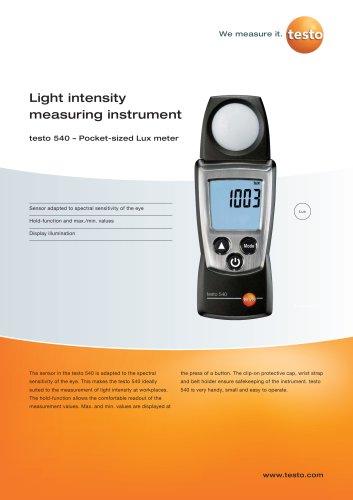 Light intensity measuring instrument  - testo 540