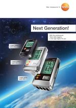 Logger series - Next Generation! With the professional Testo data loggers, a new age begins for you
