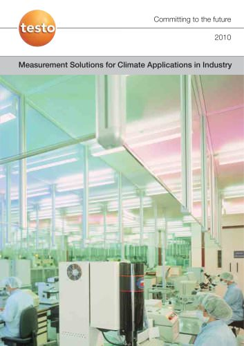 Measurement Solutions for Climate Applications in Industry