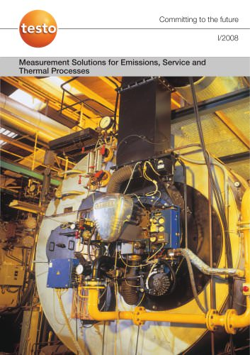 Measurement Solutions for Emissions, Service and Thermal Processes