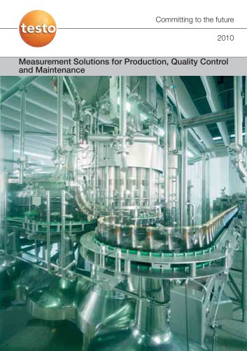 Measurement Solutions for Production, Quality Control and Maintenance