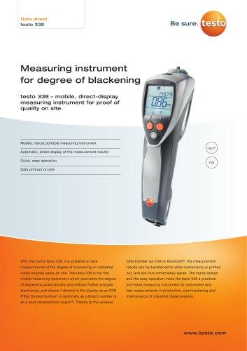 Measuring instrument  for degree of blackeningtesto 338