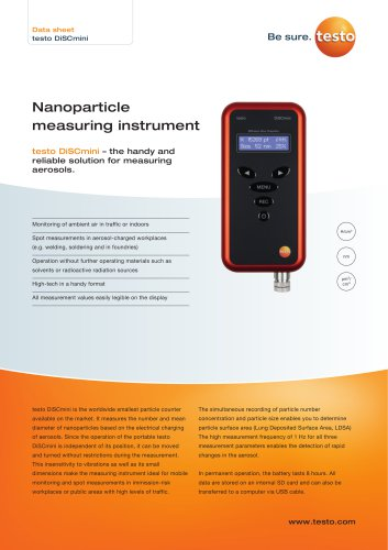 Nanoparticle  measuring instrument