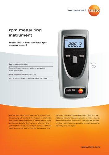 Non-contact rpm measurement - testo 465