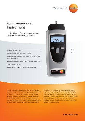 rpm measuring instrument - testo 470