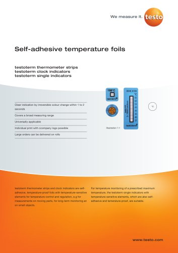 Self-adhesive temperature foils