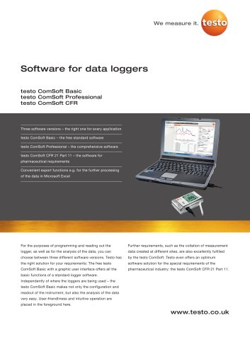 Software for data loggers