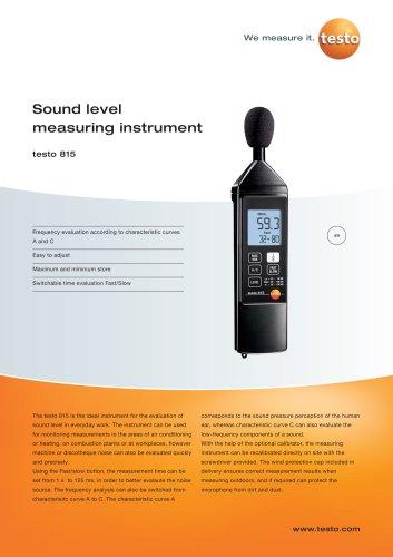 Sound level measuring instrument - testo 815
