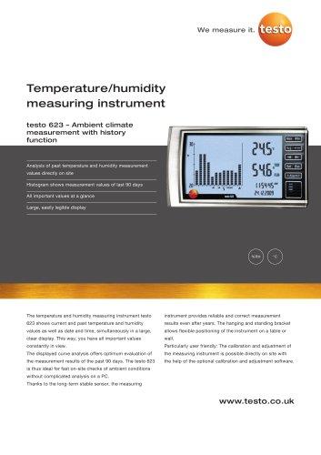 Temperature/humidity measuring instrument