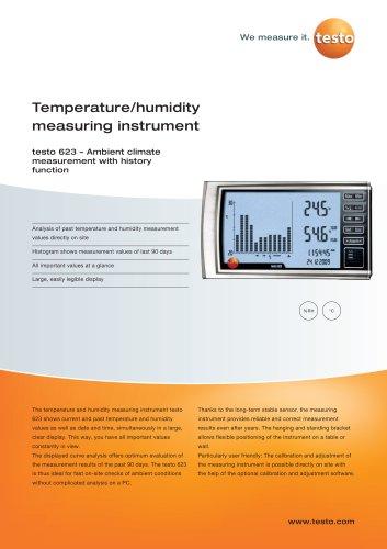 Temperature/humidity measuring instrument - testo 623