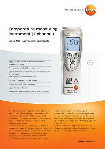 Temperature measuring instrument (1-channel) - testo 112