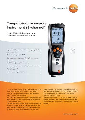 Temperature measuring instrument (3-channel) - testo 735