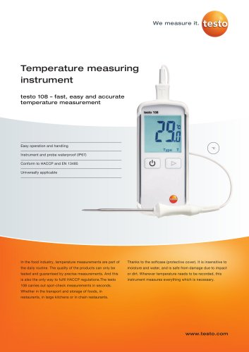 Temperature measuring instrument - testo 108
