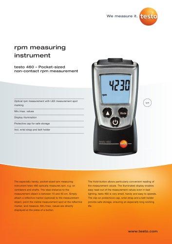 testo 460 – Pocket-sized non-contact rpm measurement