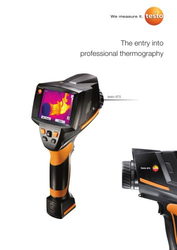 The entry into professional thermography - testo 875