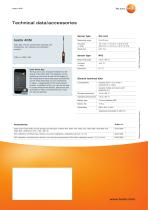 Thermal anemometer  operated with  smartphone testo 405i - 2
