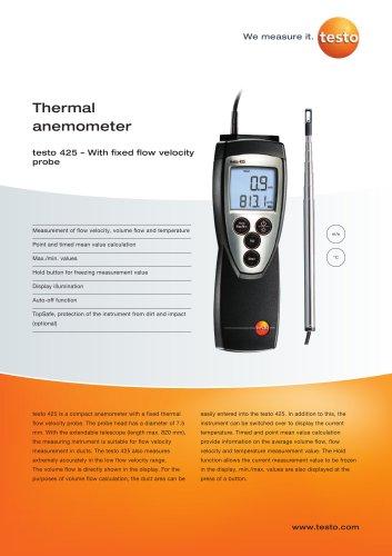 Thermal anemometer - testo 425