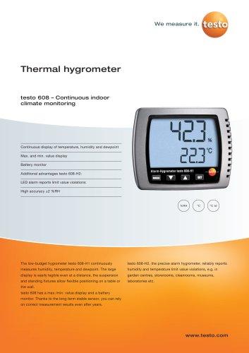 Thermal hygrometer - testo 608