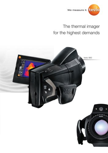The thermal imager for the highest demands - testo 890