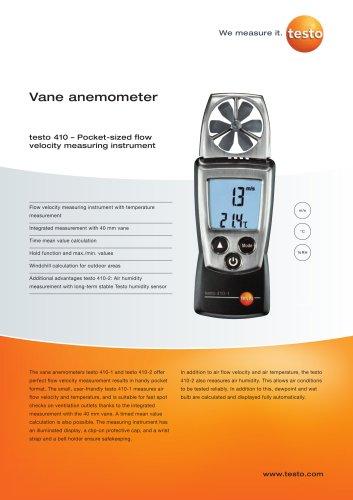 Vane anemometer - testo 410