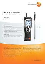 Vane anemometer - testo 416