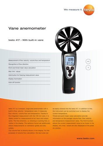 Vane anemometer - testo 417