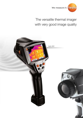 The versatile thermal imager with very good image quality - testo 881